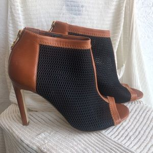 Cole Haan leather and mesh booties